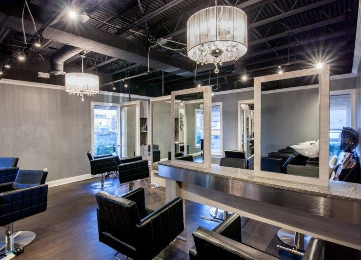 Hair Salon Body & Soul hair styling stations